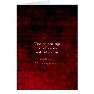 ウィリアム・シェイクスピアの感動的な未来の引用文 カード