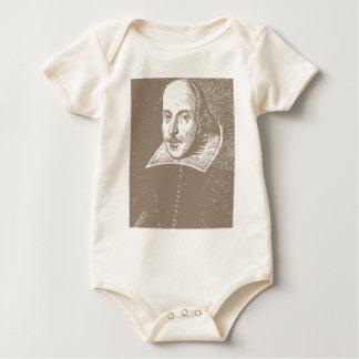 ウィリアム・シェイクスピアの暖かい灰色 ベビーボディスーツ