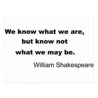 ウィリアム・シェイクスピアの活気づけるな引用文 ポストカード