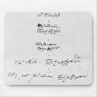 ウィリアム・シェイクスピアの5つの本物のサイン マウスパッド