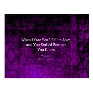 ウィリアム・シェイクスピアロマンチックな愛発言 ポストカード