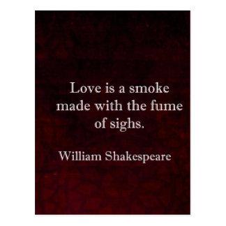 ウィリアム・シェイクスピアロミオおよびJuliet愛引用文 ポストカード