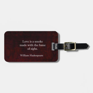 ウィリアム・シェイクスピアロミオおよびJuliet愛引用文 ラゲッジタグ