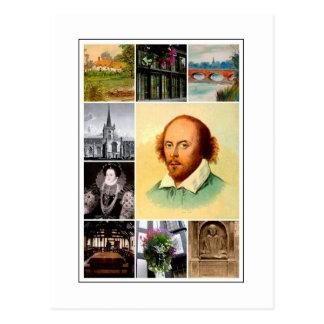 ウィリアム・シェイクスピア及びStratfordにAvon ポストカード