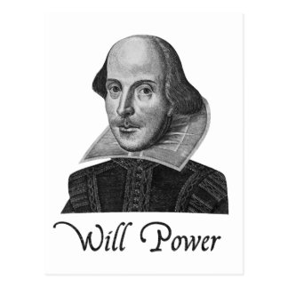 ウィリアム・シェイクスピア意志力 ポストカード