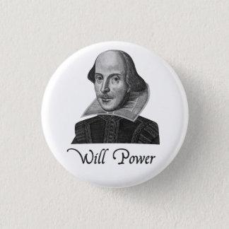 ウィリアム・シェイクスピア意志力 3.2CM 丸型バッジ