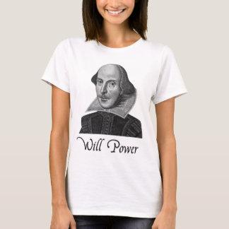 ウィリアム・シェイクスピア意志力 Tシャツ