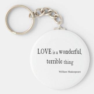 ウィリアム・シェイクスピア愛はすばらしく、ひどいです キーホルダー