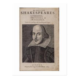 ウィリアム・シェイクスピア1623年 ポストカード