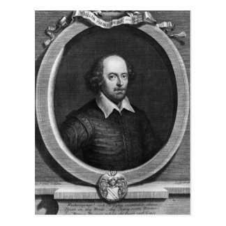 ウィリアム・シェイクスピア1719年のポートレート ポストカード