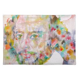 ウィリアム・シェイクスピア-水彩画portrait.1 ランチョンマット