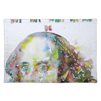 ウィリアム・シェイクスピア-水彩画portrait.2 ランチョンマット