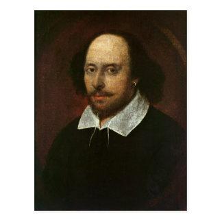 ウィリアム・シェイクスピアc.1610のポートレート ポストカード