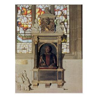ウィリアム・シェイクスピアc.1616-23への記念碑 ポストカード