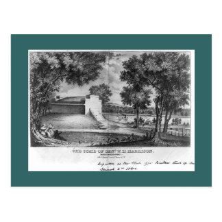 ウィリアム・ハリソンの墓、北のくねり、オハイオ州 ポストカード