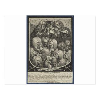 ウィリアム・ホガース著引受人の会社 ポストカード
