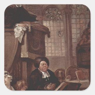 ウィリアム・ホガース著睡眠教会 スクエアシール
