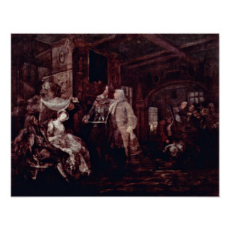 ウィリアム・ホガース著結婚式の宴会 ポスター