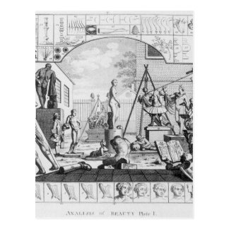 ウィリアム・ホガース著美しいのAnalisis ポストカード