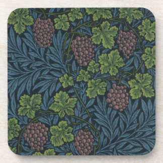 ウィリアム・モリスのつる植物の壁紙のデザイン コースター