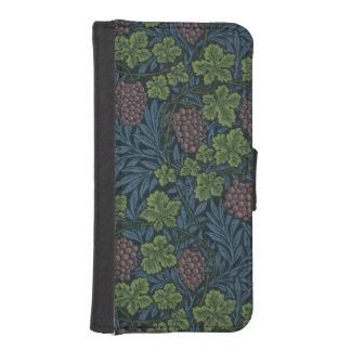 ウィリアム・モリスのつる植物の壁紙のデザイン iPhoneSE/5/5sウォレットケース
