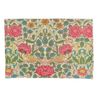 ウィリアム・モリスのばら色の花のヴィンテージ 枕カバー