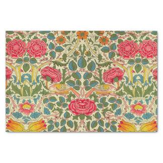 ウィリアム・モリスのばら色の花のヴィンテージ 薄葉紙