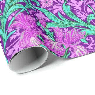 ウィリアム・モリスのアイリス、紫色の紫色 ラッピングペーパー