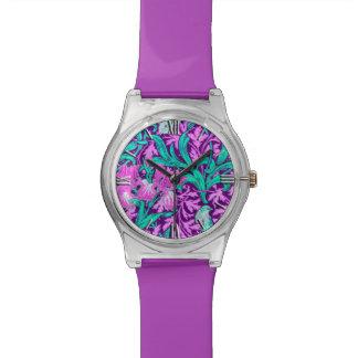 ウィリアム・モリスのアイリス、紫色の紫色 腕時計