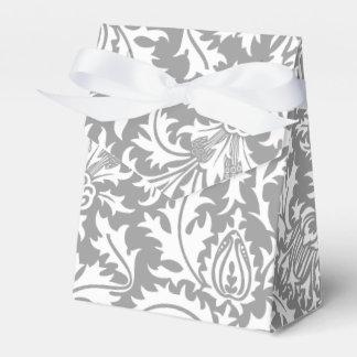 ウィリアム・モリスのエレガントな灰色および白い結婚式 フェイバーボックス