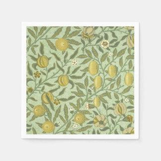 ウィリアム・モリスのザクロのフルーツのデザイン スタンダードカクテルナプキン