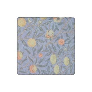 ウィリアム・モリスのザクロの花のヴィンテージのファインアート ストーンマグネット