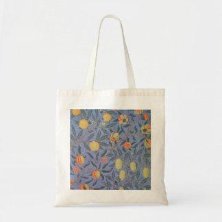 ウィリアム・モリスのザクロの花のヴィンテージのファインアート トートバッグ