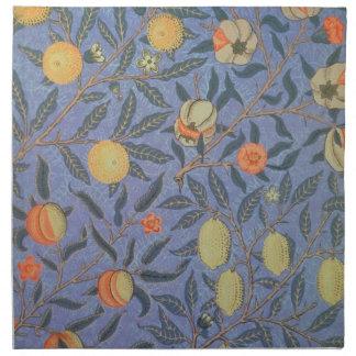 ウィリアム・モリスのザクロの花のヴィンテージのファインアート ナプキンクロス