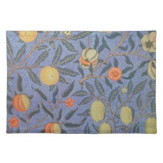 ウィリアム・モリスのザクロの花のヴィンテージのファインアート ランチョンマット