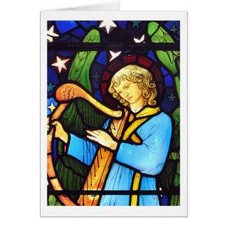 ウィリアム・モリスのステンドグラスの天使 カード