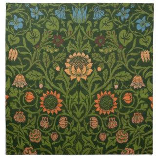 ウィリアム・モリスのタペストリーの敷物の赤い緑のカーペットのアジア人 ナプキンクロス