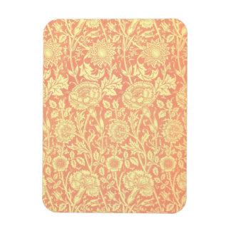 ウィリアム・モリスのピンクおよびバラのデザイン マグネット