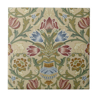 ウィリアム・モリスのブロケードの花柄パターン タイル