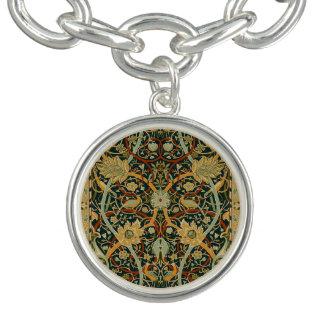 ウィリアム・モリスのペルシャ絨毯の芸術のプリントのデザイン チャームブレスレット