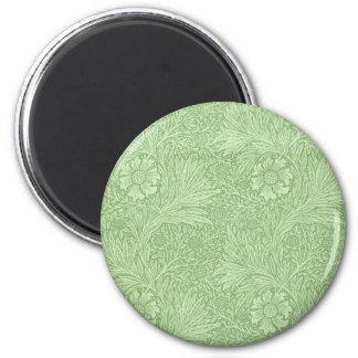 ウィリアム・モリスのマリーゴールドの(緑の)パターン マグネット