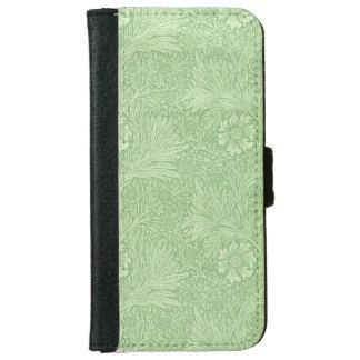 ウィリアム・モリスのマリーゴールドの(緑の)パターン iPhone 6/6S ウォレットケース