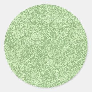 ウィリアム・モリスのマリーゴールド(緑) ラウンドシール
