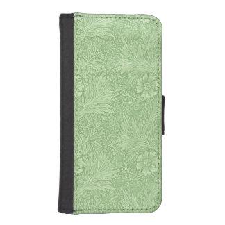 ウィリアム・モリスのマリーゴールド(緑) iPhoneSE/5/5sウォレットケース