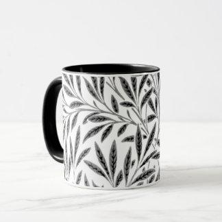 ウィリアム・モリスのヤナギのパターン、灰色、黒及び白 マグカップ