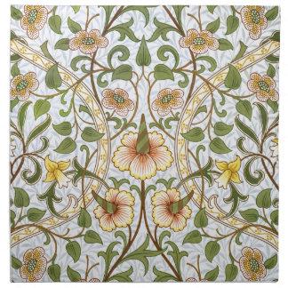 ウィリアム・モリスのラッパスイセン花パターンナプキンセット ナプキンクロス