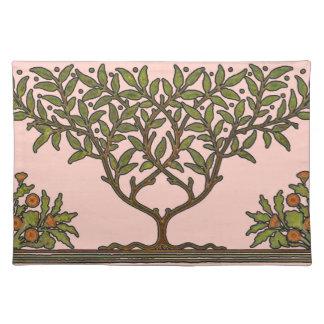 ウィリアム・モリスのヴィンテージの木の花柄 ランチョンマット