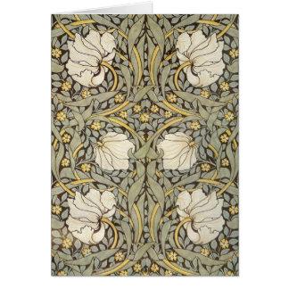 ウィリアム・モリスのヴィンテージの花 カード