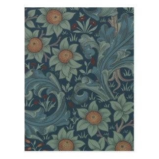 ウィリアム・モリスのヴィンテージ果樹園の花柄 ポストカード