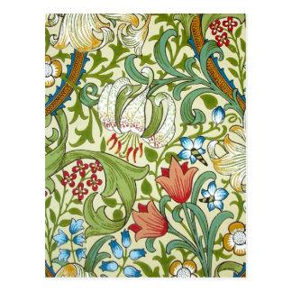 ウィリアム・モリスの庭ユリのファインアート ポストカード